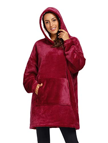 Winter Outdoor Hooded Pocket Blankets Warm Soft...