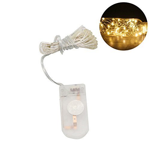 dragonaur-home decor 1M 10Pcs LED Waterproof Christmas Lights Decorative String Lights Xmas Tree Hanging Lights Battery Operated Party String Lights Warm White