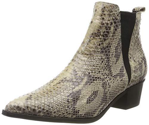 PIECES Damen PSHARA Leather Snake Boot Stiefeletten, Mehrfarbig (Natural Natural), 36 EU