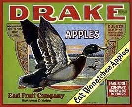 MAGNET Carlton Washington State Drake Duck Apple Fruit Crate Box Magnet Art Print