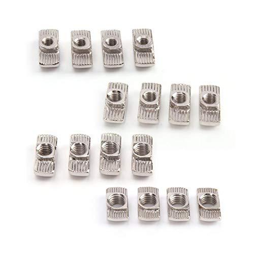 100pcs M4 / M5 / M6 / M8 Acero de carbono T-slot Tut Nut Sliding T Nut Sujetadores para perfiles de aluminio DUO ER (Size : M4)