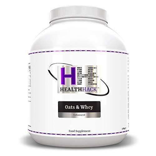 Health Hack - Supplément aux flocons d'avoine et lactosérum (whey), 2,5kg, Sans goût