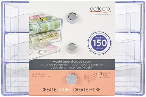 Deflecto Washi Tape - Organizador de 3 cajones (26,7 x 15,7 x 17 cm)