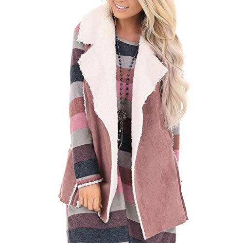 Review Amlaiworld Women Winter Vest Coat Casual Open Front Faux Suede Cozy Vest Pockets Sleevess Jac...