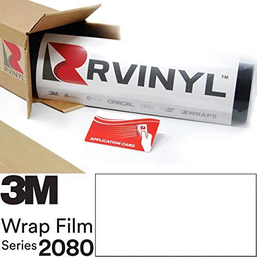 3M 2080 G10 Gloss White 5ft x 1ft W/Application Card Vinyl Vehicle Car Wrap Film Sheet Roll