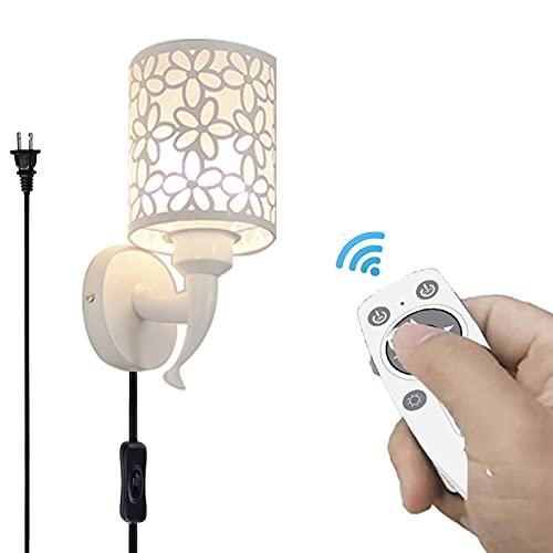 Lámpara de pared LED con control remoto que ahorra energía, regulable al 2% -100% brillo y ajuste de color 2700K-6000K Lámpara de 10W 800LM adecuada para cabecera,casa campo,cocina,dormitorio,pasillo