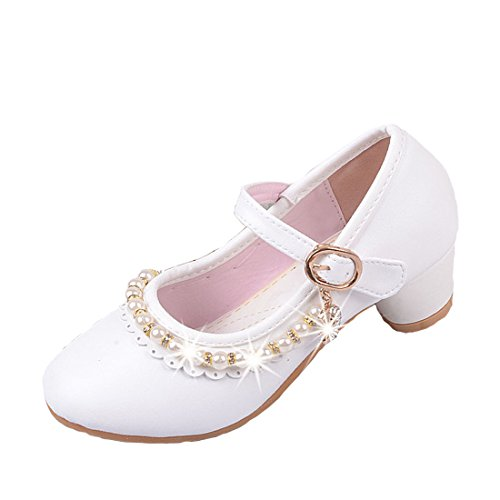 Cool&D Mädchen Sandalen Frozen Schuhe Prinzessin Sandalen Absatz-Schuhe Oxford Sohlen Sandalette