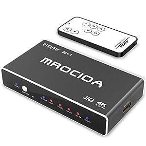 ✅ 【Ausgezeichnet Preis-Leistungs-Verhältnis 】The Der HDMI Switcher verfügt über 5 Ports, um die Anforderungen mehrerer Geräte zu erfüllen, die Sie gleichzeitig verwenden. Dank des einfachen One-Touch-Switching können Sie sich in diesen HDMI-SWITCH ve...