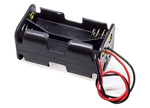 4-Fach AA-Zellen Akkuhalter Batteriehalter für Batterien Akkus AA-Rundzellen mignon-Zellen
