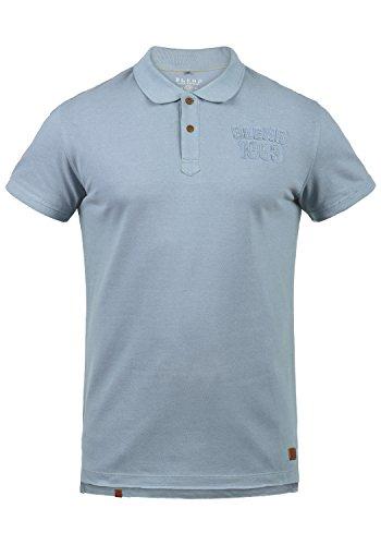 Blend Tadeus Herren Poloshirt Polohemd T-Shirt Shirt Mit Polokragen 100% Baumwolle, Größe:XXL, Farbe:Dusty Blue (74649)