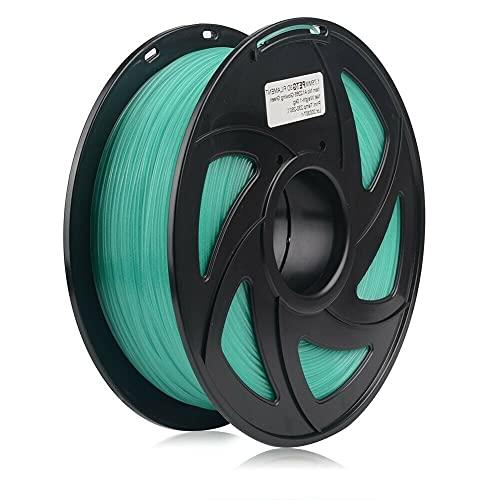 S SIENOC PETG Filament 1KG stampante 3D PETG Filamento 1,75 mm stampante 3D Filamento verde fluorescente (PETG verde incandescente)
