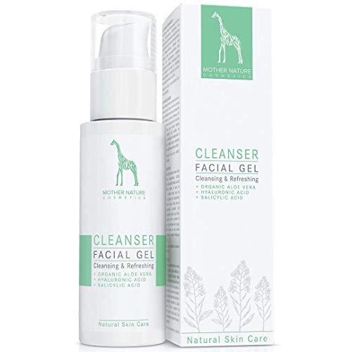 Waschgel mit Bio-Aloe Vera, Hyaluronsäure und Salizylsäure - NATURKOSMETIK VEGAN - 125 ml von Mother Nature Cosmetics