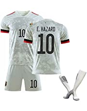Voetbalpak, België Europacup Voetbalshirt 2021 Uit Voetbal, Volwassenen Kinder T-Shirt Shorts Sokken Ademend Sneldrogende Sportkleding