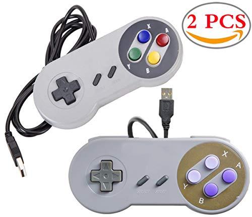 Liuer 2PCS Retro USB SNES for Super Nintendo Controlador