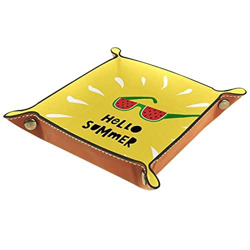 Hello Summer - Funda de piel para carteras, relojes, llaves, monedas, teléfonos celulares y equipos de oficina