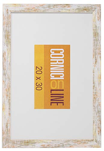 Cornice in Legno 220 Nocciola da Parete 30x45