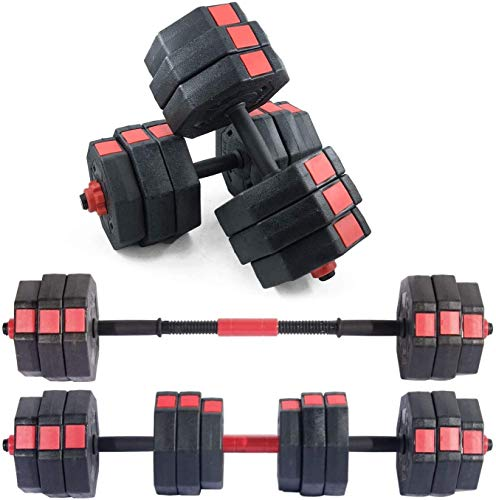Soges 66 Pounds Adjustable Dumbbells-Pair, Iron Sand Mixture Octagonal Designed, Anti Rolling Fitness Dumbbells HSYL001-30-CA