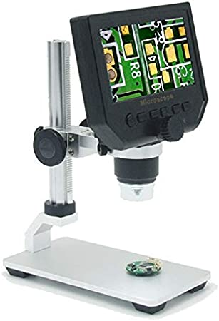 ZGQA-GQA 600X Digital Microscope 4.3 inch HD LCD Soldering Tool Electronic Video microscopes bga Phone Repair USB Stand Magnifier Camera Color : G600S, Magnification : 1 600X