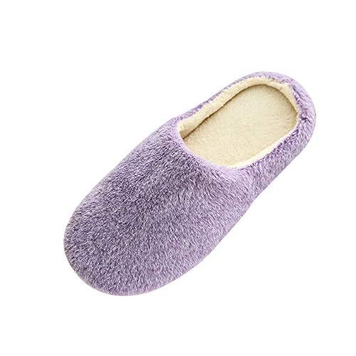 Meilleure Vente!LuckyGirls Femme Hommes Chaudes Pantoufles Automne Hiver Coton Chaussons Slip-on Slippers Chaussures Pantoufles antidérapantes Pantoufles Chaudes