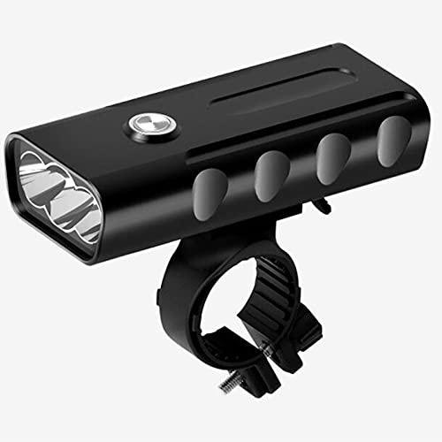 自転車ライト、USB充電式LEDライト懐中電灯、防水アクセサリー、アルミ合金自転車アクセサリー