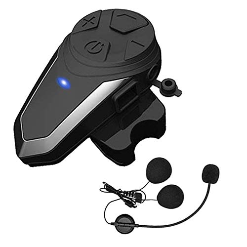 Motorcycle Bluetooth Headset Yaconob BT-S3 1000m Motorcycle Helmet Bluetooth Radio Intercom Wireless Interphone to 2-3 Riders (Waterproof/Handsfree/Stereo Music/FM Radio/GPS/MP3 1 Pack