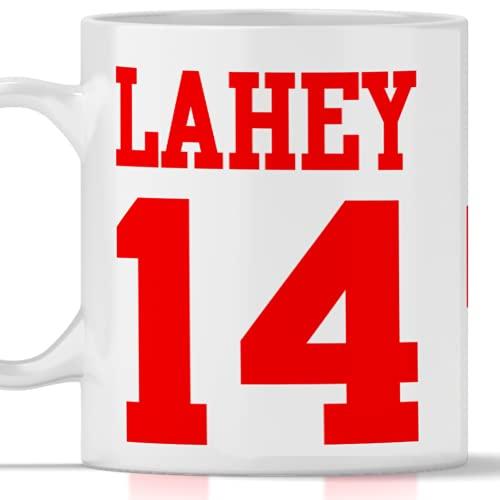 Tazza Lahey 14 Beacon Hills - Lacrosse. Adatta per Colazione, The, tisana, caffè, Cappuccino. Gadget Mug Lahey 14 Tributo Serie TV Teen Wolf. Anche Come Idea Regalo Originale e Simpatica