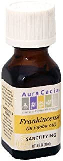 Aura Cacia Pure Aromatherapy 100% Pure Essential Oil, Frankincense (in Jojoba Oil), Sanctifying, 0.5-Ounces by Aura Cacia