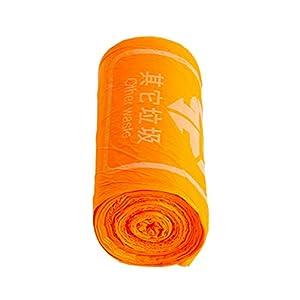 litty089 Bolsas de basura desechables, 1 rollo, clasificación, bolsa de basura para el hogar, cocina, bolsa de basura, color naranja