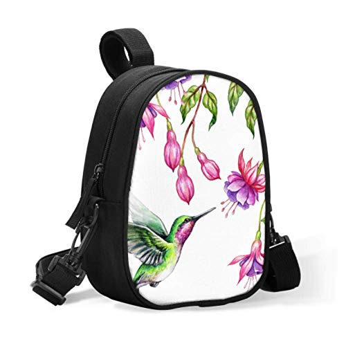 Breastmilk Storage Cooler Bag Exotic Nature Flying Hummingbird Tropical Fuchs Warmer Bag for Baby Bottle Box Lunch Bag Easily Attaches to Stroller for Travel Baby Bottle Warmer Or Cool