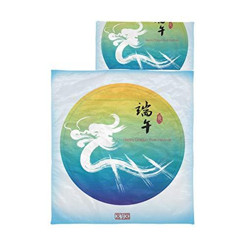 Kinder Camping Schlafsack Chinese Dragon Boat Festival Chinesische Kleinkind Nap Mat Mats für Mädchen Weiche Mikrofaser Leichte Kleinkind Rolled Nap Mat Perfekt für Vorschule, Kindertagesstätte und
