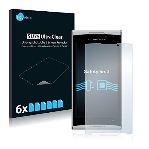 Savvies 6X Schutzfolie kompatibel mit Lumigon T2 HD 2014 Bildschirmschutz-Folie Ultra-transparent