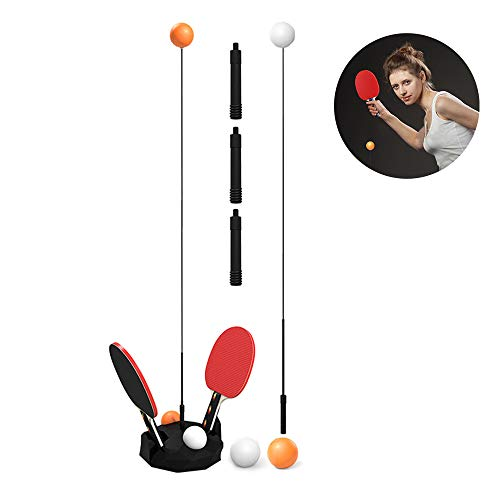 Why Choose Lixada Table Tennis Trainer with Elastic Soft Shaft,Ping Pong Balls Paddles Set Trainer P...