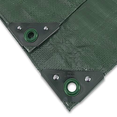NOOR Abdeckplane Profi 140g/m2 Grün I 5 x 6 m I Allzweckplane für Schutz vor Witterung I Ideal geeignet für Gartenbereich I UV-stabilisiert, beidseitig beschichtet, wasserfest und abwaschbar