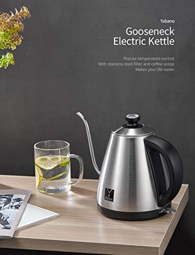 Yabano-Wasserkocher-mit-Kaffee-Tropfer-und-Thermometer-10-l-elektrischer-Schwanenhals-Kaffeekessel-fuer-Tropfkaffee-Tee-Edelstahl-automatische-Abschaltung-1000-W
