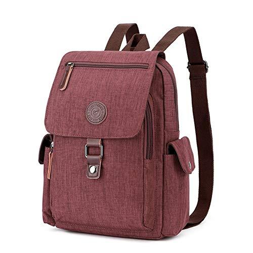 Backpack New Waterproof Handbag Shoulder Bag Outdoor Travel Multi-Function Men and Women Bag OL Universal Shoulder Rucksack (Color : Brown)