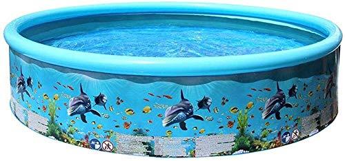 FANPING Piscinas inflables Piscina for PVC rectangular familia piscina de natación for las piscinas jardines Familia infantil for los niños grandes de Centro de natación de piscina familiar fácil de m