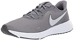 REVOLUTIONARY COMFORT: The Nike Revolution 5 men's running shoes cushion your stride with soft foam to keep you running in comfort. Minimalist design fits in just about anywhere your day takes you. BREATHABLE SUPPORT: These Nike men's shoes have ligh...