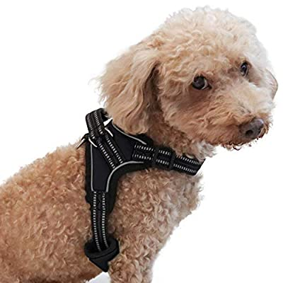 CosyMeadow Escape Proof Dog Harness - Padded Everyday Soft Sport Vest | Secure To Car Seat Belt | No Choke | Sturdy Handle | 2017 New & Improved | Prime | Extra Small Medium X Large Breed