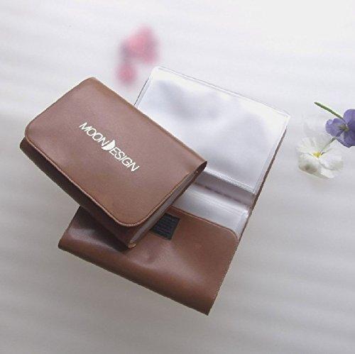 【神戸御影 moon design カードケース】32ポケット (l 1020 ゴールドブラウン)