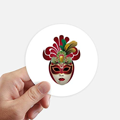 DIYthinker ronde gezicht masker gelukkig carnaval van Venetië ronde Stickers 10 Cm muur koffer laptop motobike decal 8 Stks