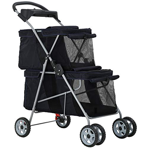 Dog Stroller Cat Stroller Pet Carriers Bag Jogger Stroller for Small Medium Dogs Cats Travel Camping...
