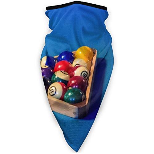 BJAMAJ Billiard-Ball mit Halterung, Outdoor-Gesichtsmaske, winddicht, Sportmaske, Skimaske, Schal, Bandana für Männer und Frauen