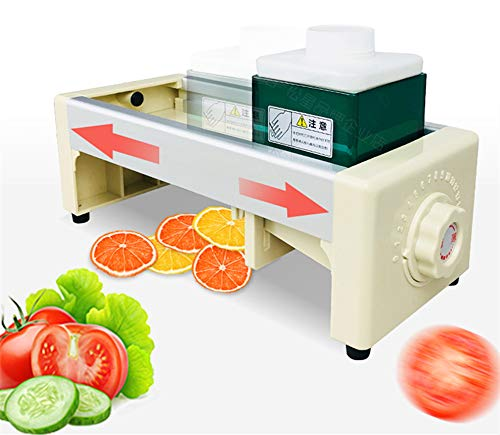 NEWTRY 110mm Thickness Adjustable Commercial Fruit and Vegetable Slicer Manual Lemon Cutting Machine Super Thin Slice for Ginger Potato