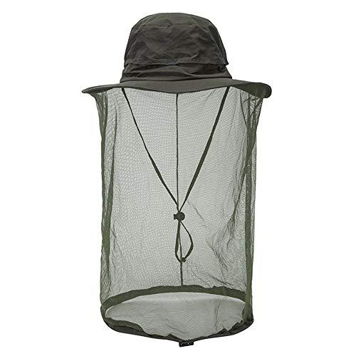 ZMXZMQ Chapeau De Protection Contre Les Moustiques, Chapeau De Protection Contre Le Soleil avec Protection Contre Les Mailles Contre Les Insectes,ArmyGreen