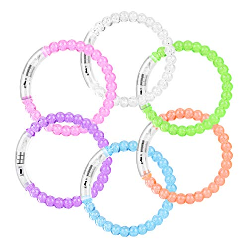 YoungRich 12 Pack LED Armband Luminous Bands Flashing Bangle Bubble Armband für Weihnachten...