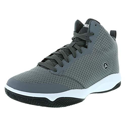 Airwalk Grey Men's Inferno Basketball Sneaker 15 Regular