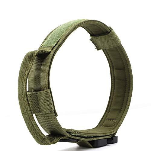SVHK Collar de Perro, Collar de Perro de Entrenamiento Militar, Collar de Perro de liberación rápida, Collar de Perro táctico, 21'Ancho Ancho Ajustable Material de Hebilla de Metal de Servicio Pesado