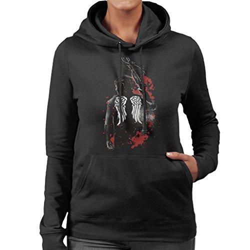 Cloud City 7 Walking Dead Daryl Dixon Wings and Crossbow Women's Hooded Sweatshirt