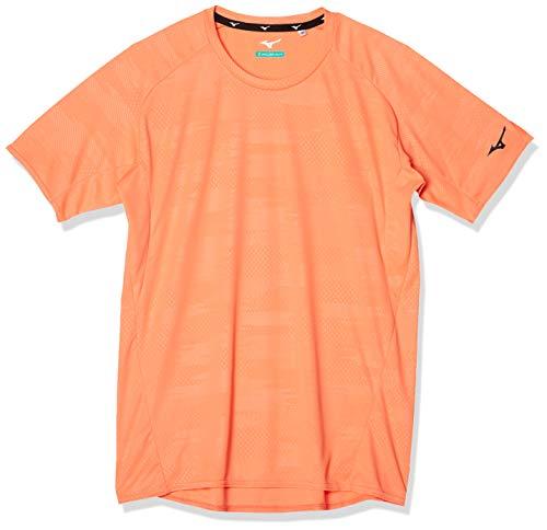[Mizuno] トレーニングウェア ソーラーカットTシャツ 半袖 吸汗速乾 紫外線 32MA0022 メンズ シャーベットオレンジ 日本 M (日本サイズM相当)