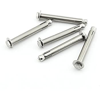 uxcell M6x70mm Hex Nut Stainless Steel Sleeve Anchor Expansion Bolts 4 Pcs